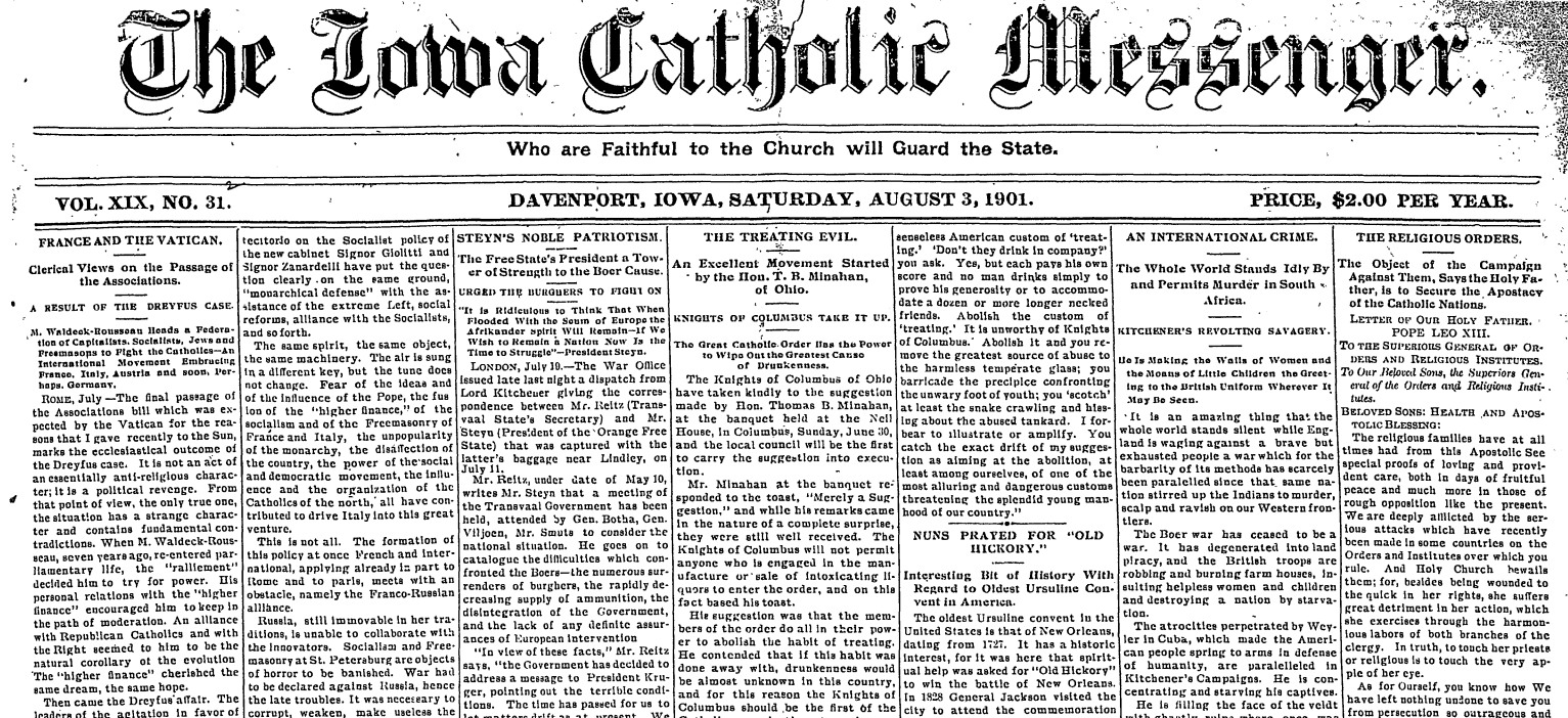 Catholic Messenger Achieves Go Digital