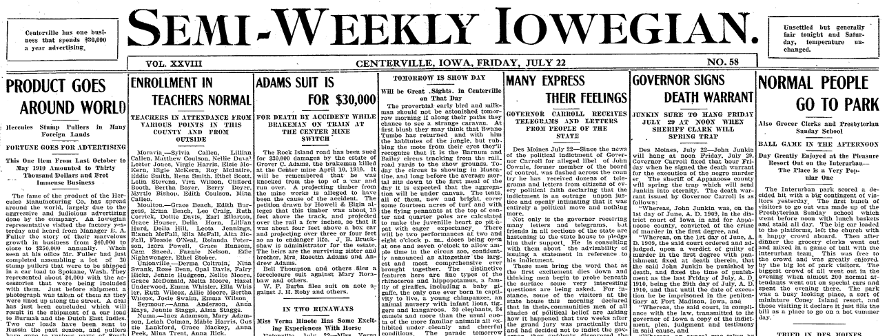 Historical Society to digitize all Centerville newspapers