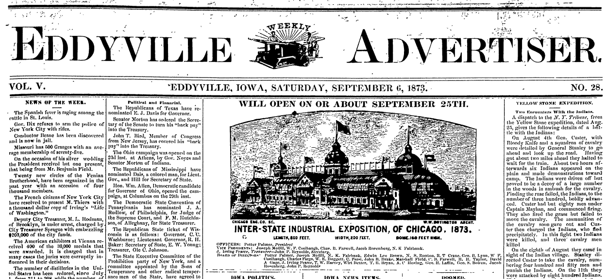 Eddyville Newspaper Archives: Opening the Digital Window to the Past