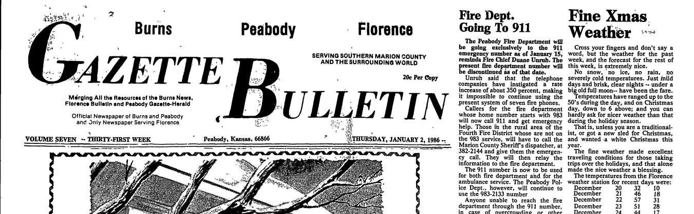 Peabody Township Library Puts Old Peabody Newspapers Online