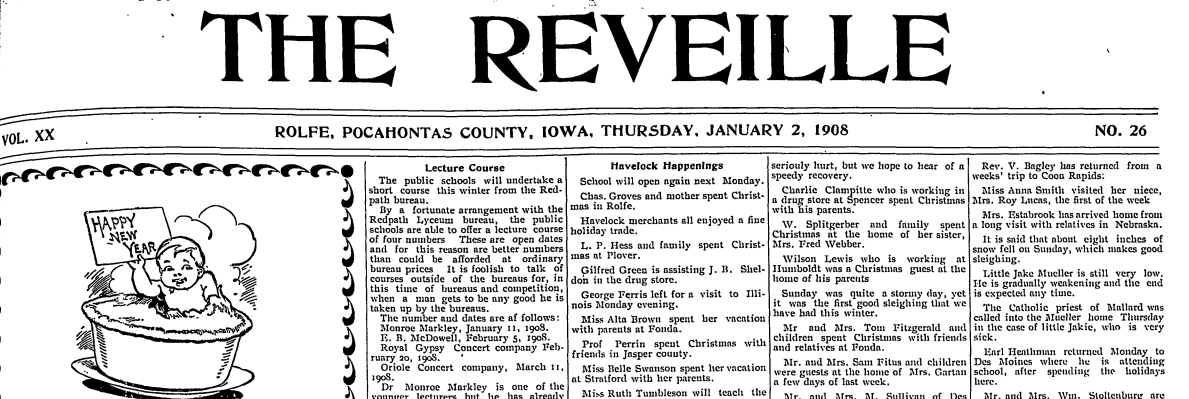 Rolfe Newspapers Project