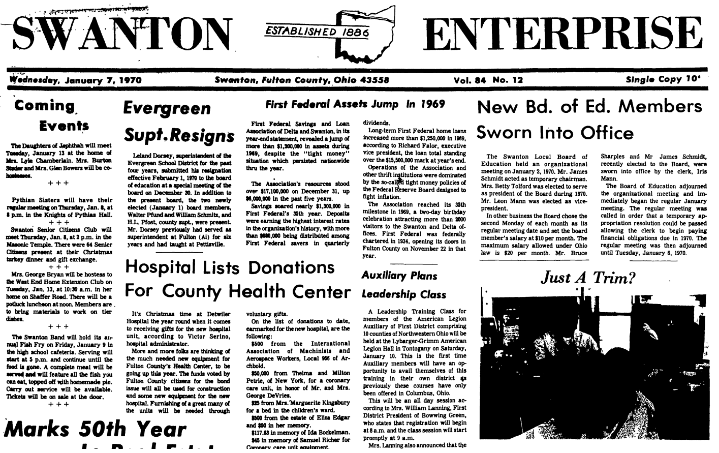 Over 95 Years Of The Swanton Enterprise Now Online