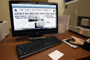 WWI Sentinel-Tribune Archive to Debut at Library