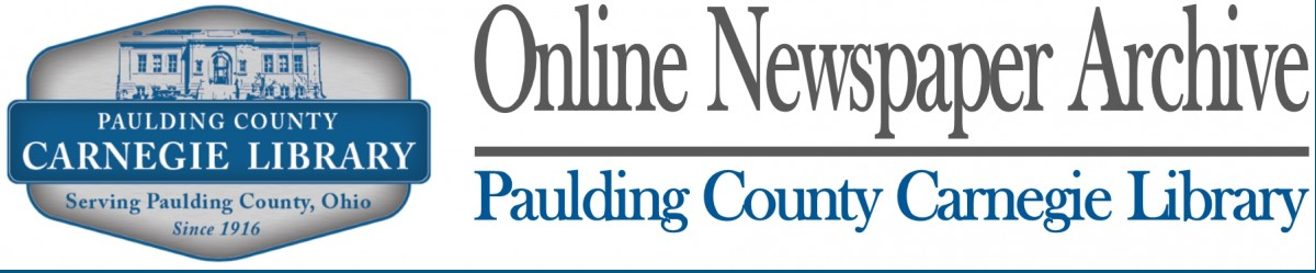 Paulding County Carnegie Library Newspaper Digitization Project (Ohio)